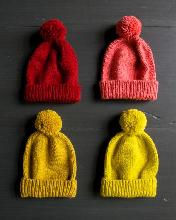 3 Pom-Pom Knit Hat Patterns | Make and Takes