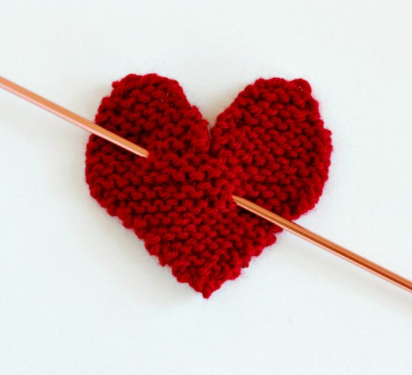 Knit Heart for Valentine's Day