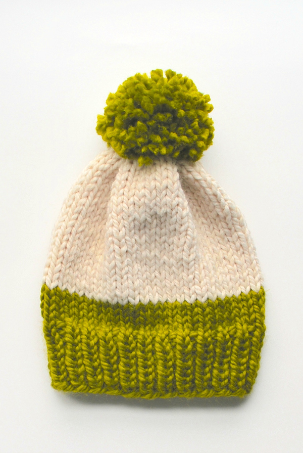3 Pom-Pom Knit Hat Patterns | Make and Takes