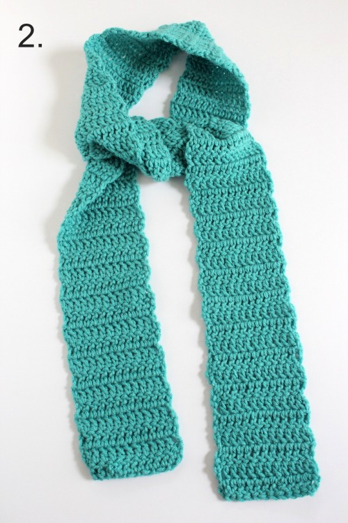 Knotting a Crocheted Scarf