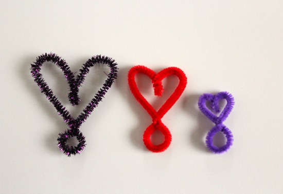 heart shaped pipe cleaner rings make and takes