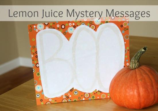 Lemon Juice Mystery Messages