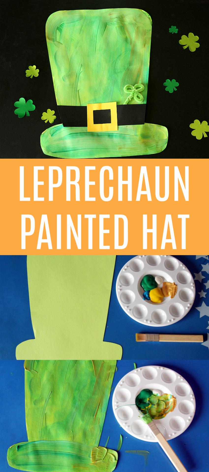 Leprechaun Painted Hat Kids Craft