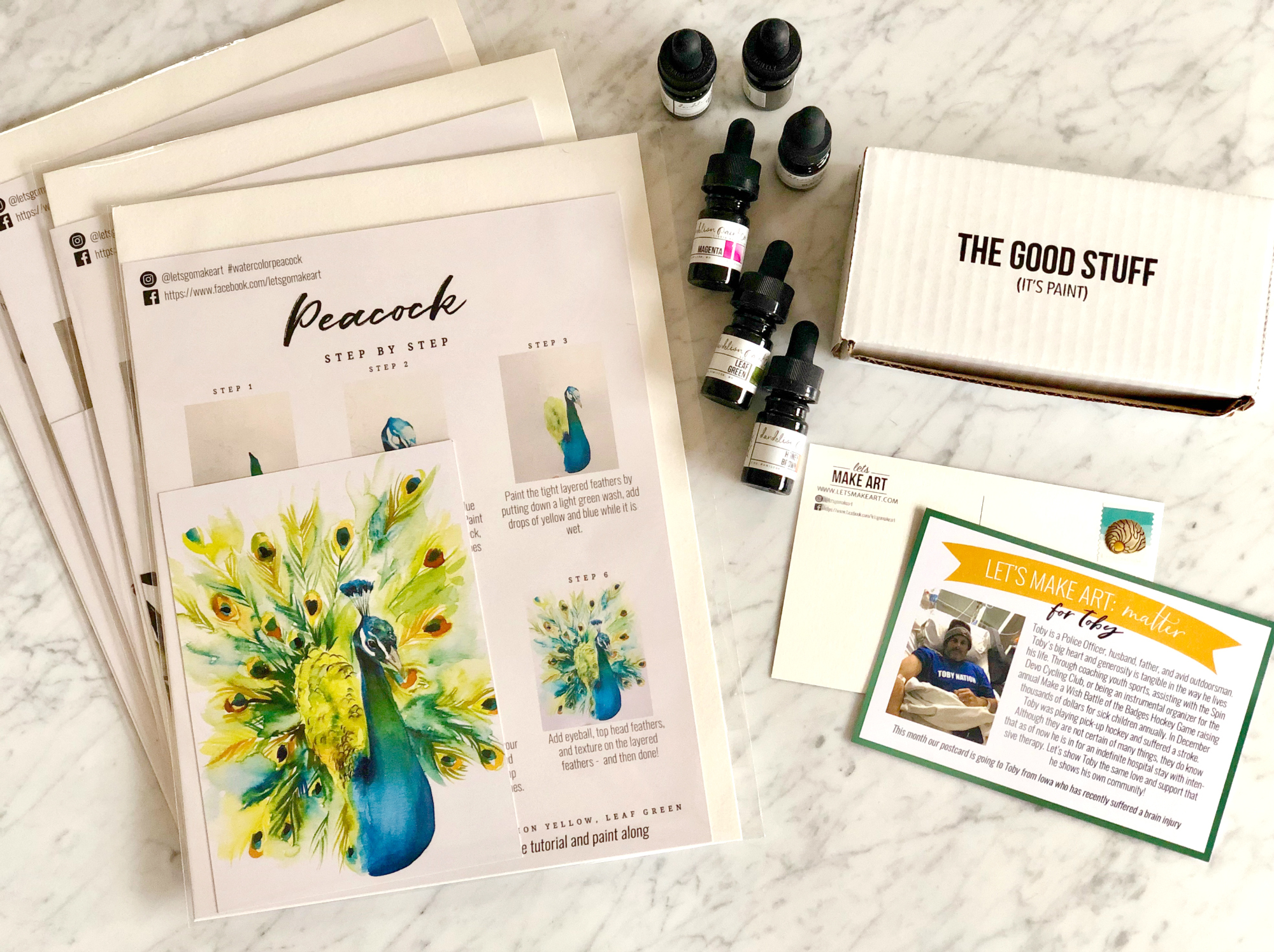 Let's Make Art Watercolor Kits