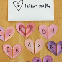 Heart Letter Match Game