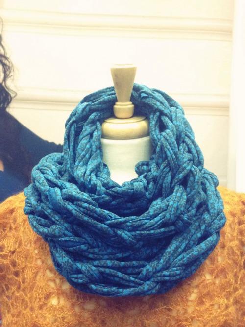 Lion Brand Arm Knitting Cowl