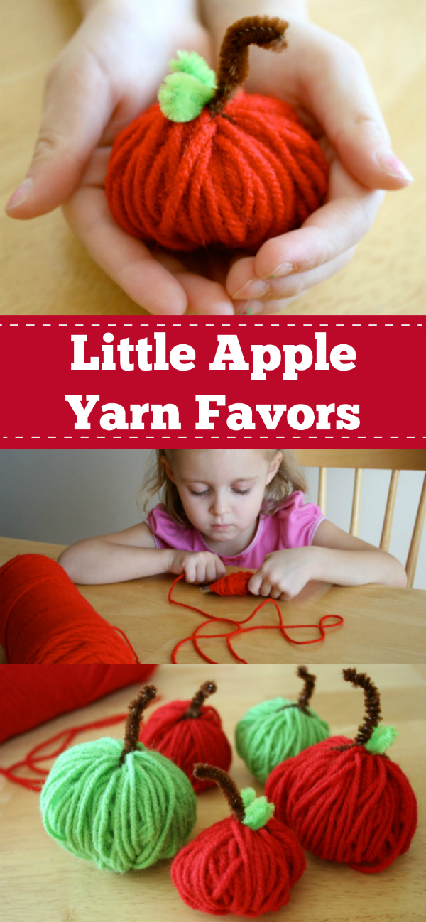 Little Apple Yarn Favors Pinterest