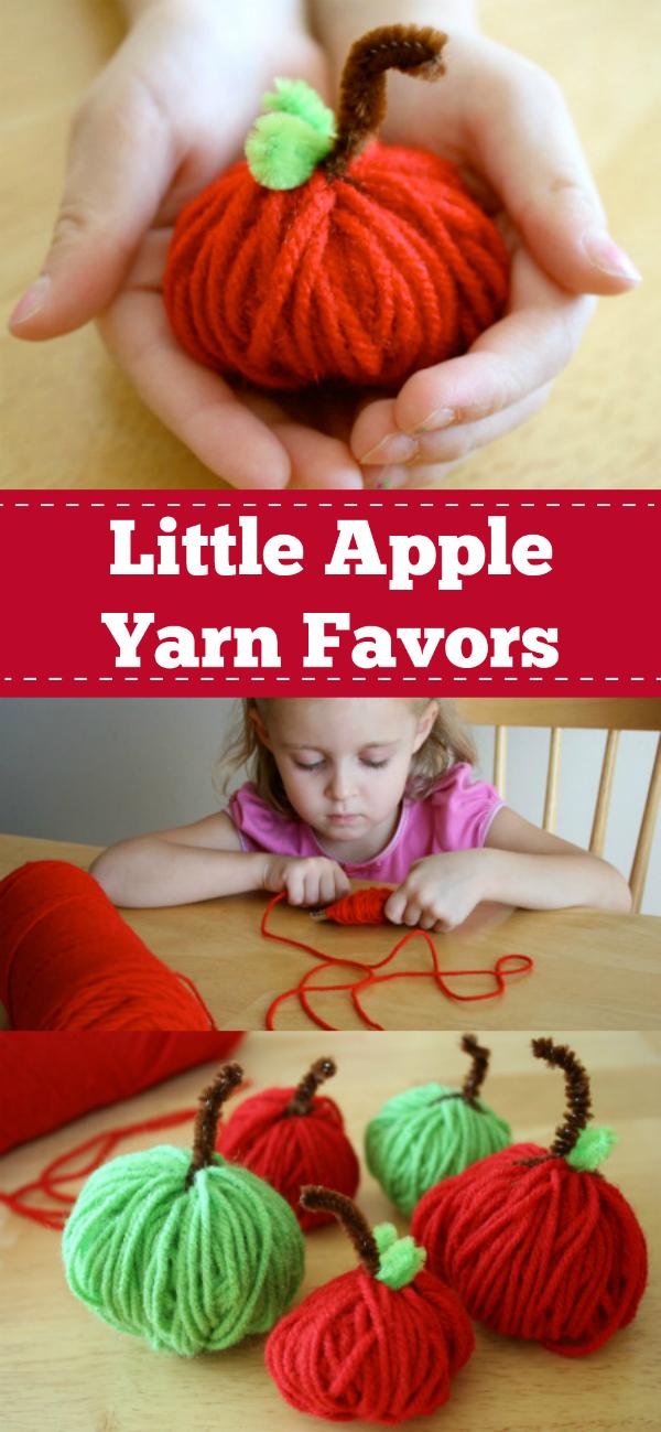Little Apple Yarn Favors Pinterest
