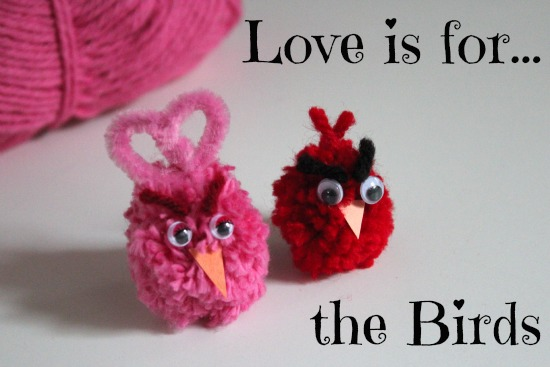 Love Bird Pom Poms makeandtakes.com