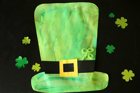 Lucky Leprechaun Painted Hat Project