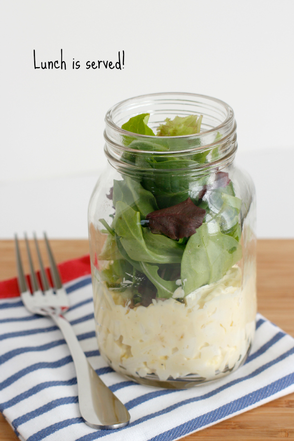 Lunch is Served with Egg Salad in a Mason Jar
