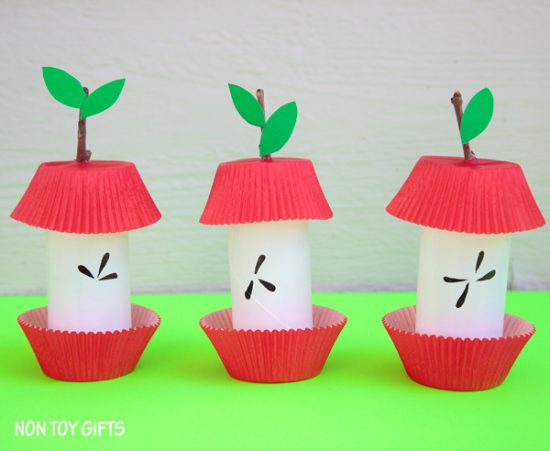Paper Roll Apple Core Craft