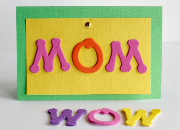 MOM Turns into WOW for a fun Mother's Day card