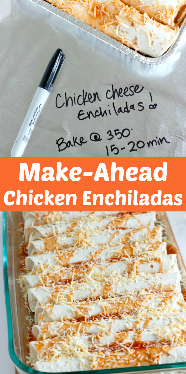 Make-Ahead Chicken Enchiladas for Dinner