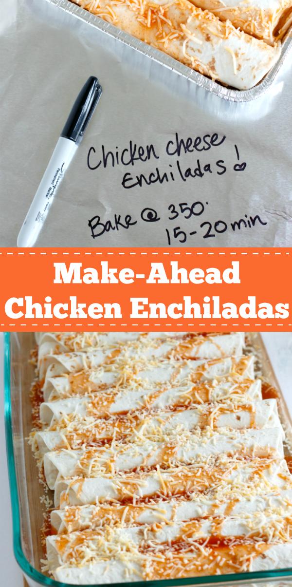 Make-Ahead Chicken Enchiladas pinterest