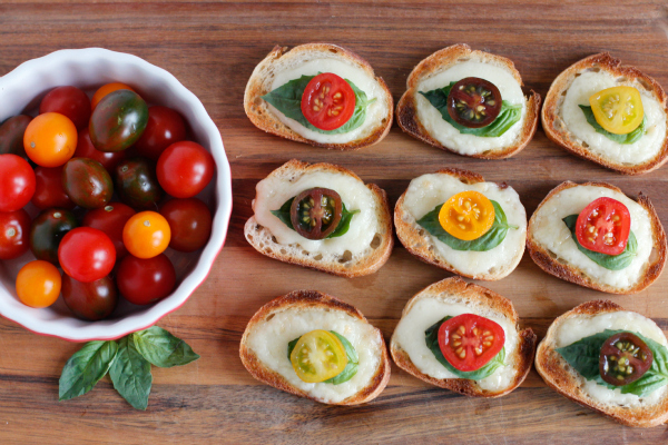 Make Brie Baguettes with Tomato and Basil