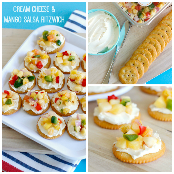 Make Cream Cheese & Mango Salsa snack appetizers