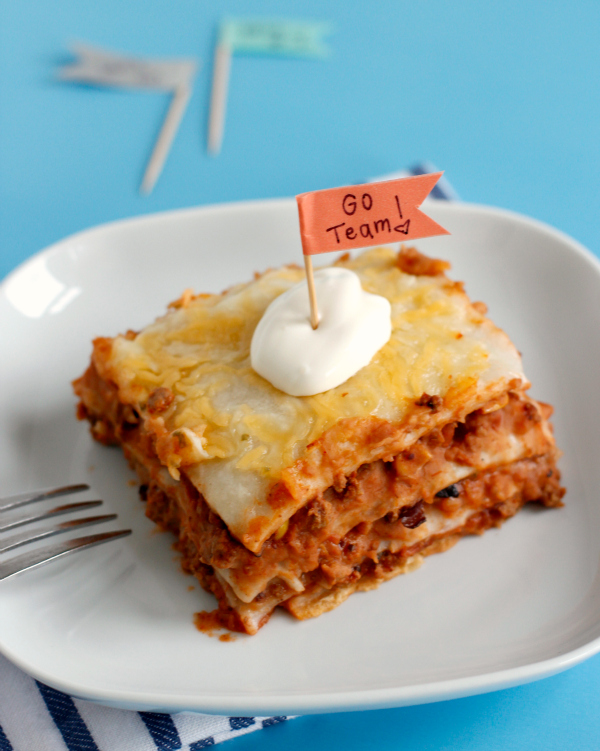 Make Crock Pot Mexican Lasagna for Game Day