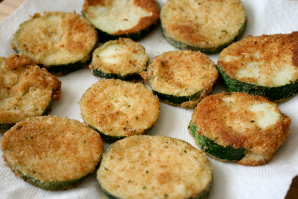 Make Fried Zucchini Rounds
