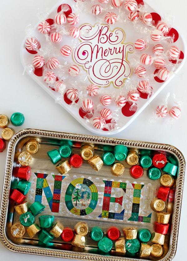 Make Holiday Card Treat Trays