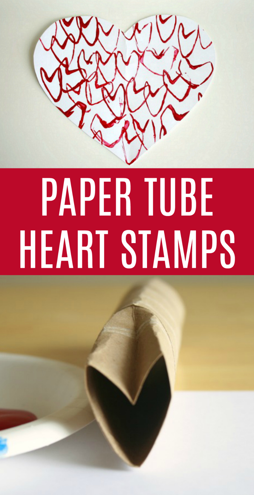 Make Paper Tube Heart Stamps