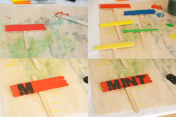 Make Plant Markers from Popsicle Sticks by Francine Clouden at Make & Takes- Painting and Stamping