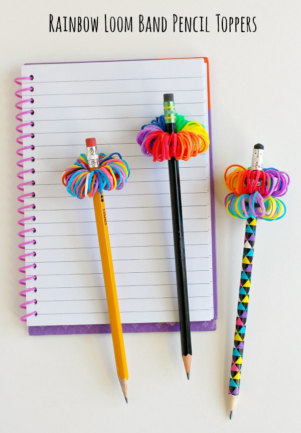 Make Rainbow Loom Band Pencil Toppers