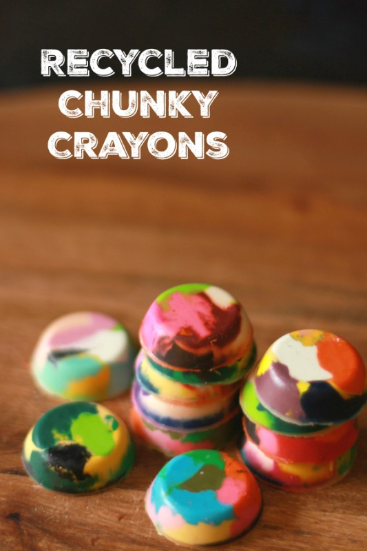 Get Coloring With Recycled Chunky Crayons