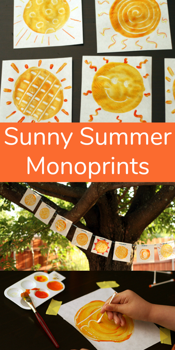 Make Sunny Summer Monoprints