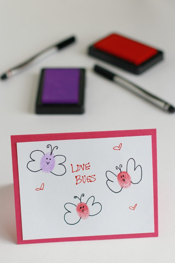 Make Thumbprint Love Bugs for a Valentine Kids Craft