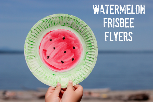 Make Watermelon Frisbee Flyers for the Beach