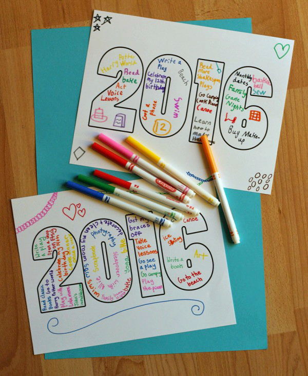 Make a 2016 New Years Printable