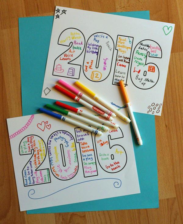 Make a 2016 New Years Printable