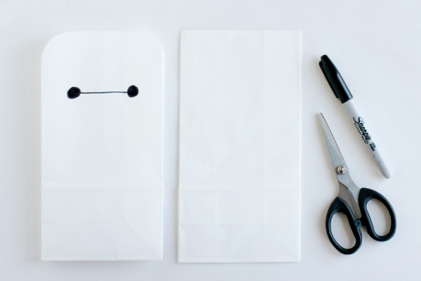 Make a Baymax Goodie Bag for a Big Hero 6 Birthday Party