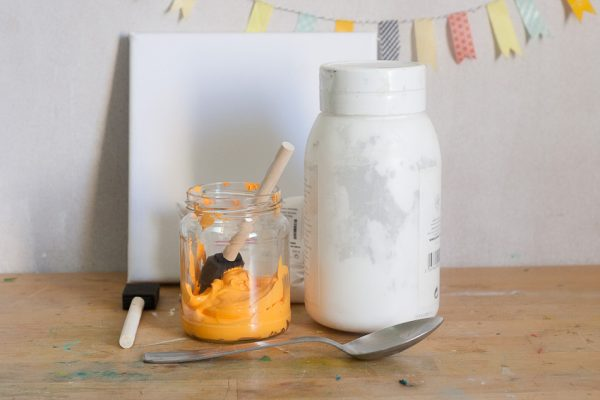 Make a Chalkboard Canvas for Back To School by Francine Clouden for Make and Takes-1