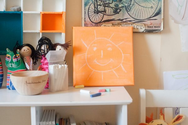 Make a Chalkboard Canvas for Back To School by Francine Clouden for Make and Takes-12
