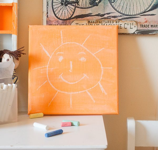 Make a Chalkboard Canvas for Back To School by Francine Clouden for Make and Takes-13