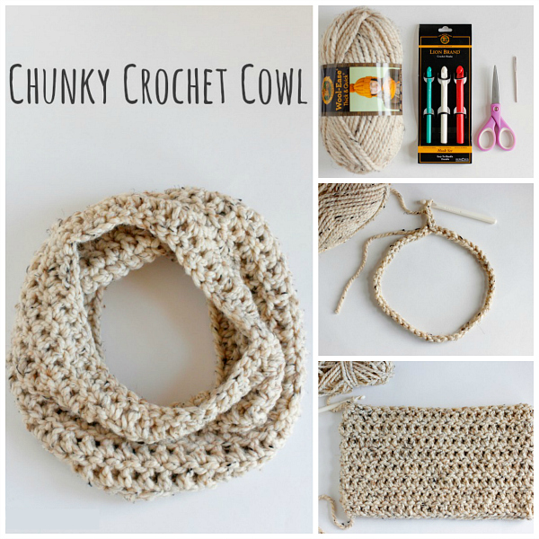 Make a Chunky Crochet Cowl to Wear