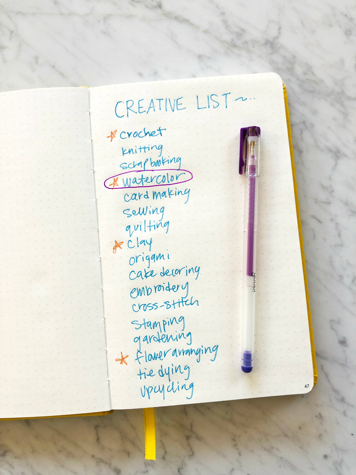 Make a Creative List to Expand Your Creative Process Through Crafts You Already Love