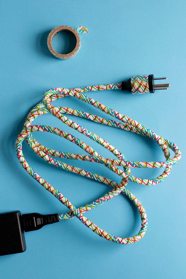 Make a DIY Washi Tape Cord