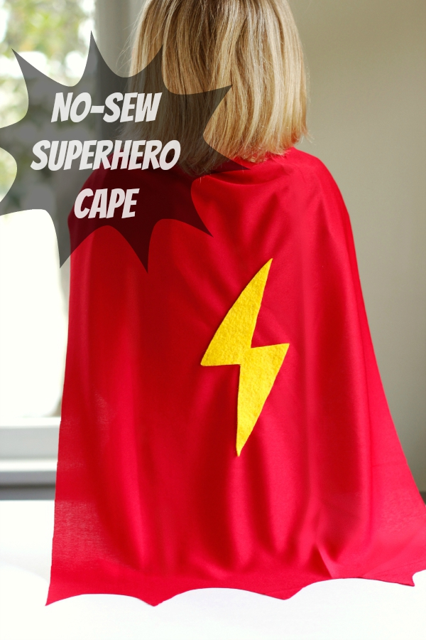 Make a no sew superhero cape for reading powers make for Diy superhero cape template