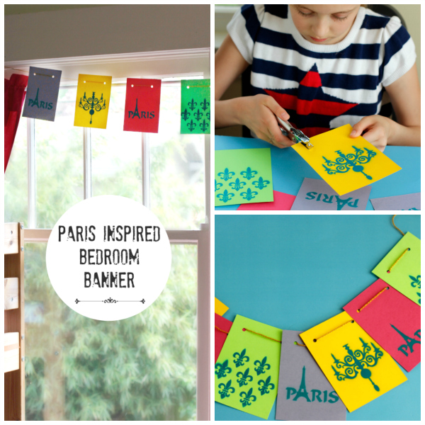 Make a Kids Paris Inspired Bedroom Banner