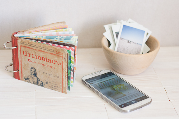Make a Mini-Album with a Vintage Book Cover | Make and Takes