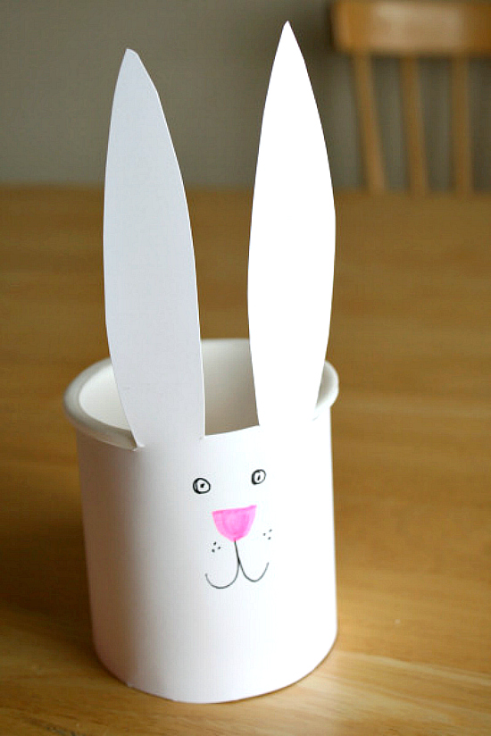 Make a Recycled Easter Bunny Bucket