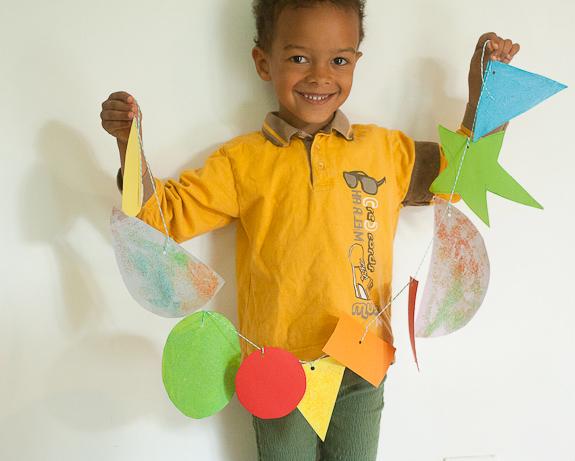 "Crafting With Kids: Salt ""Glitter"" Shape Garland"