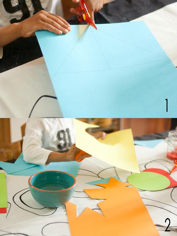 Make a Salt Glitter Shape Garland with Kids by Francine Clouden Part 1a