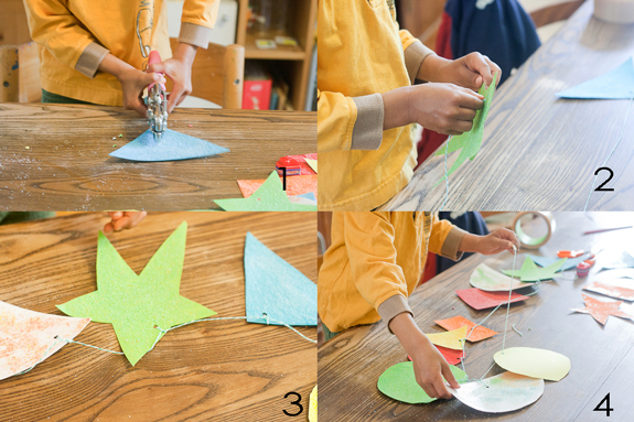 Make a Salt Glitter Shape Garland with Kids by Francine Clouden Part 5