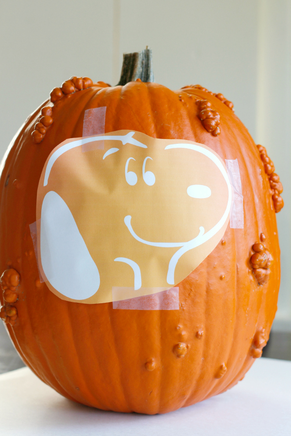 Make a Snoopy Stenciled Pumpkin