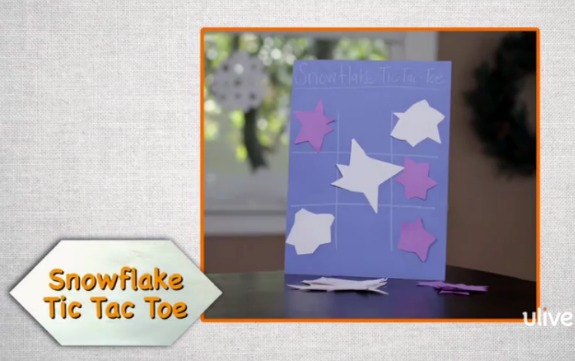 Make a Snowflake Tic Tac Toe Game @makeandtakes.com