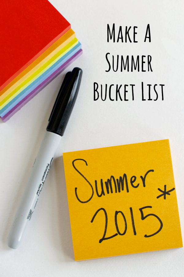 Make a Summer Bucket List with Kids